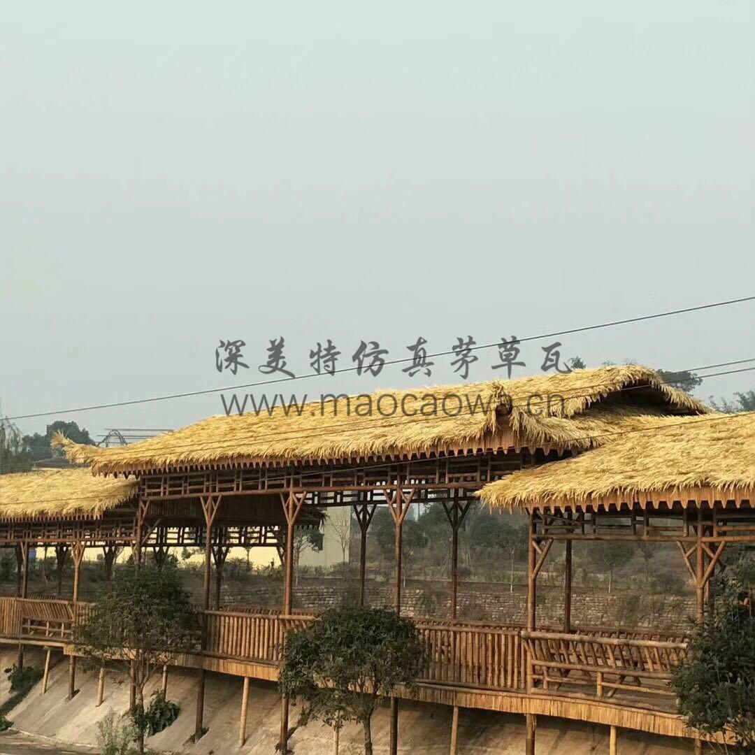 农家乐茅草屋